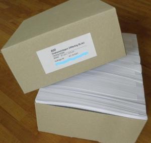 ORDNER-EINLAGEN | Günstige Großpackung mit 800 Stk/Farbe (sortiert 750 Stk)